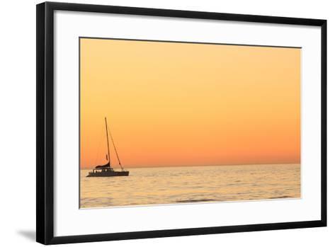 Sunset Cruise at Cape Town-Tony Hawthorne-Framed Art Print