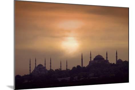 Turkey, Istanbul, Blue Mosque and Hagia Sophia, Sunset-Daryl Benson-Mounted Photographic Print