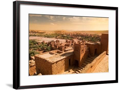 Mud Constructions in Ait Benhaddou.-Artur Debat-Framed Art Print