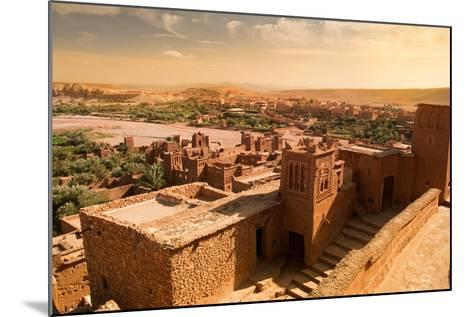 Mud Constructions in Ait Benhaddou.-Artur Debat-Mounted Photographic Print