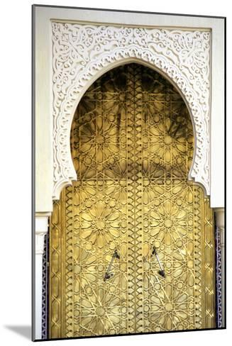 Golden Door and an Arch Way, Casablanca, Morocco-Hisham Ibrahim-Mounted Photographic Print