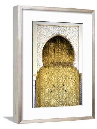 Golden Door and an Arch Way, Casablanca, Morocco-Hisham Ibrahim-Framed Art Print