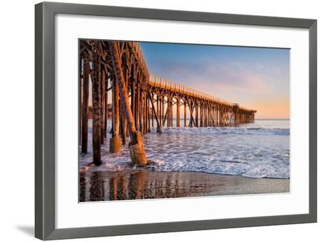 San Simeon Pier-Betty Wiley-Framed Art Print