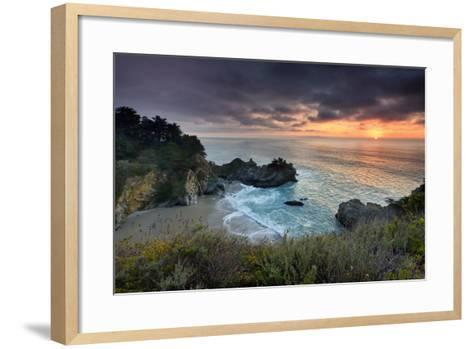 Winter Sunset Mcway Cove-Don Smith-Framed Art Print