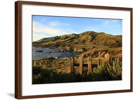 Rolling Hills next to Ocean-George Diebold-Framed Art Print