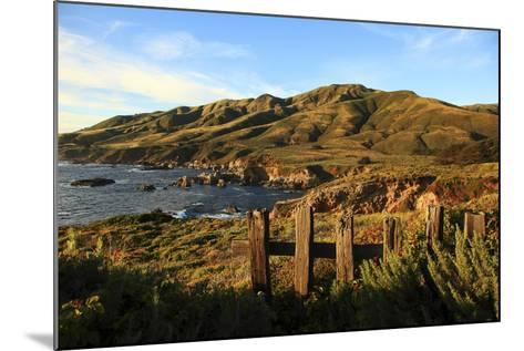 Rolling Hills next to Ocean-George Diebold-Mounted Photographic Print