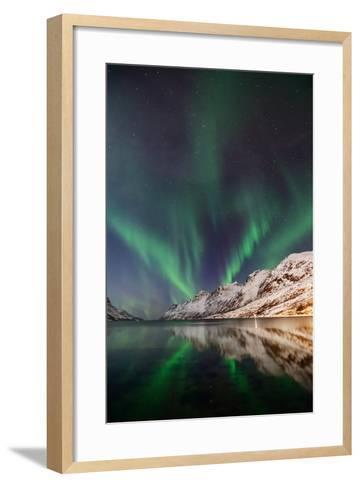 Aurora Ersfjordbotn-John Hemmingsen-Framed Art Print