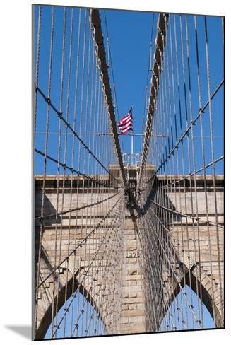 Upward Image of Brooklyn Bridge in New York-burak pekakcan-Mounted Photographic Print