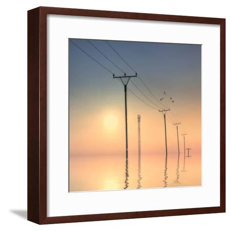 Telephone Post at Sunset-kurtmartin-Framed Art Print
