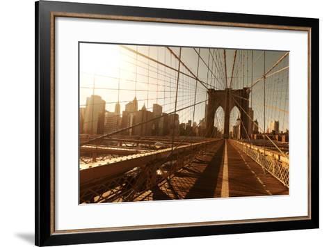 Brooklin Bridge-Diogo Salles-Framed Art Print