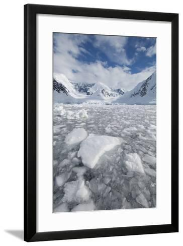 Ice at the Base of a Glacier in Wilhelmina Bay, Antarctica.-Mint Images - David Schultz-Framed Art Print
