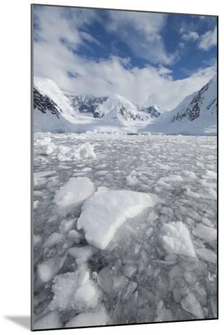 Ice at the Base of a Glacier in Wilhelmina Bay, Antarctica.-Mint Images - David Schultz-Mounted Photographic Print