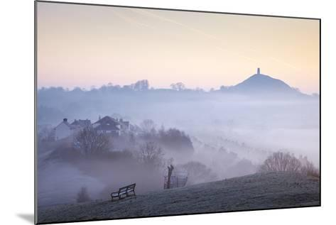 Glastonbury Tor from Wearyall Hill, Somerset, UK-Nick Cable-Mounted Photographic Print