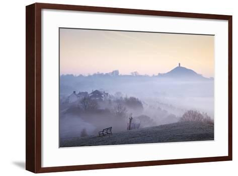 Glastonbury Tor from Wearyall Hill, Somerset, UK-Nick Cable-Framed Art Print