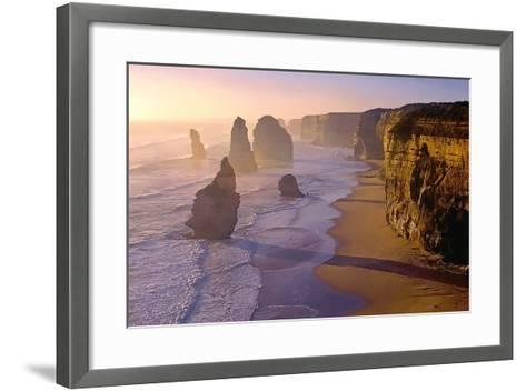 Sunset at the Twelve Apostles-TGR Photography-Framed Art Print