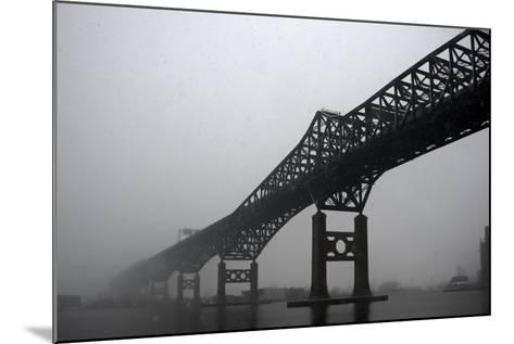 The Pulaski Skyway in the Snow and Fog-Photography by Steve Kelley aka mudpig-Mounted Photographic Print