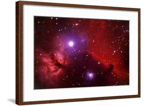 Horsehead Nebula in the Belt of Orion-a. v. ley-Framed Art Print