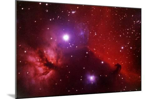 Horsehead Nebula in the Belt of Orion-a. v. ley-Mounted Photographic Print