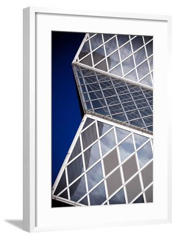 Seattle Public Library Abstract-Hal Bergman-Framed Art Print
