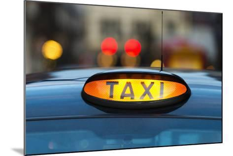 Uk, England, London, Sign on Taxi Cab-Tetra Images-Mounted Photographic Print