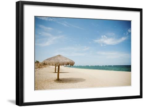 Beach Umbrella-Christopher Kimmel-Framed Art Print