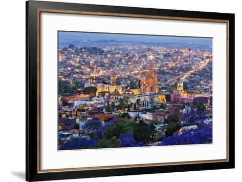 Historical Centre of San Miguel De Allende at Dusk-Jeremy Woodhouse-Framed Art Print
