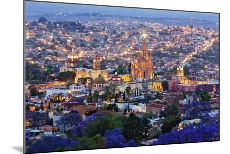 Historical Centre of San Miguel De Allende at Dusk-Jeremy Woodhouse-Mounted Photographic Print