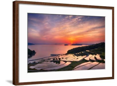 Doya Rice Terraces during Sunset-Agustin Rafael C. Reyes-Framed Art Print