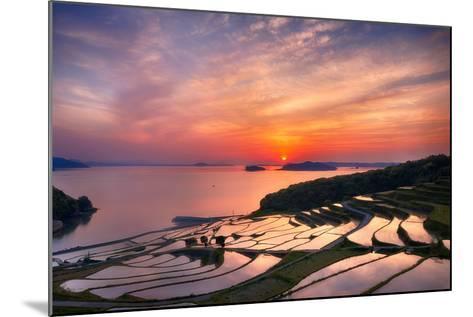 Doya Rice Terraces during Sunset-Agustin Rafael C. Reyes-Mounted Photographic Print