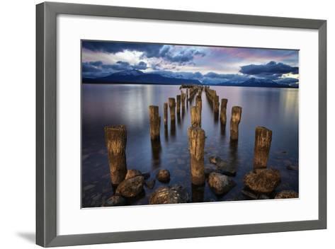 Puerto Natales Pier-Jimmy McIntyre-Framed Art Print