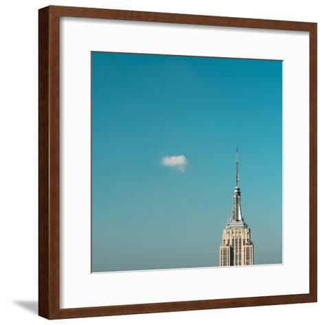 Usa, New York City, Empire State Building Pinnacle-Tetra Images-Framed Art Print