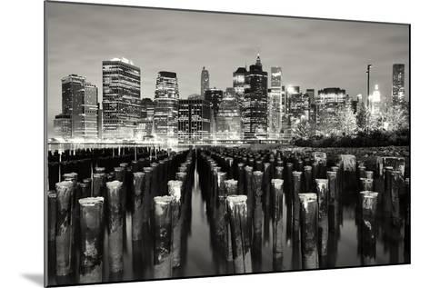 Manhattan at Night-Shobeir Ansari-Mounted Photographic Print