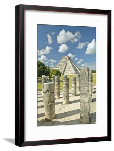 The Pyramid of Kukulkan, (Also known as El Castillo), a Mayan Ruin, as Seen from the Thousand Colum-VisionsofAmerica/Joe Sohm-Framed Art Print