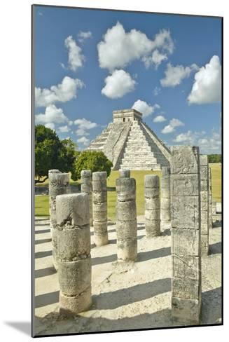 The Pyramid of Kukulkan, (Also known as El Castillo), a Mayan Ruin, as Seen from the Thousand Colum-VisionsofAmerica/Joe Sohm-Mounted Photographic Print