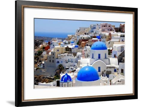 Village of Oia-Dimitris Sotiropoulos Photography-Framed Art Print
