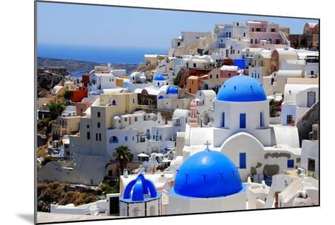 Village of Oia-Dimitris Sotiropoulos Photography-Mounted Photographic Print