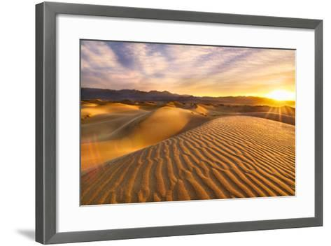 Rippled Sand Dunes at Sunrise-Laura Knauth-Framed Art Print