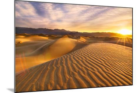 Rippled Sand Dunes at Sunrise-Laura Knauth-Mounted Photographic Print