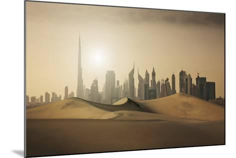 Futuristic City in the Desert-Buena Vista Images-Mounted Photographic Print