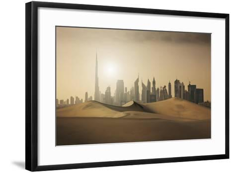 Futuristic City in the Desert-Buena Vista Images-Framed Art Print