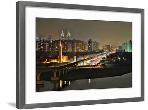 Palm Jumeirah Monorail to Atlantis Hotel Dubai-Xu Jian-Framed Art Print