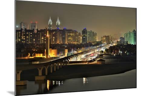 Palm Jumeirah Monorail to Atlantis Hotel Dubai-Xu Jian-Mounted Photographic Print