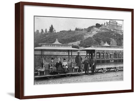 Cable Street Car-Taber Photo San Francisco-Framed Art Print