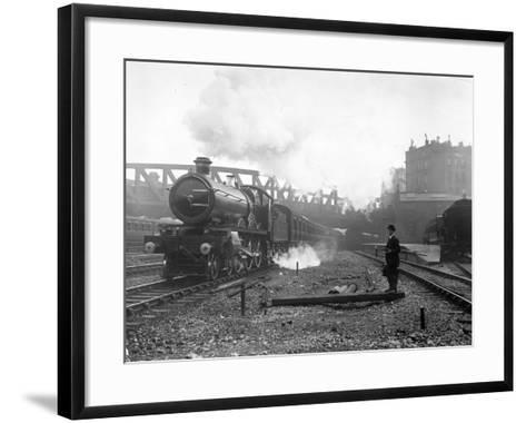 Express Steam Train-Hulton Collection-Framed Art Print