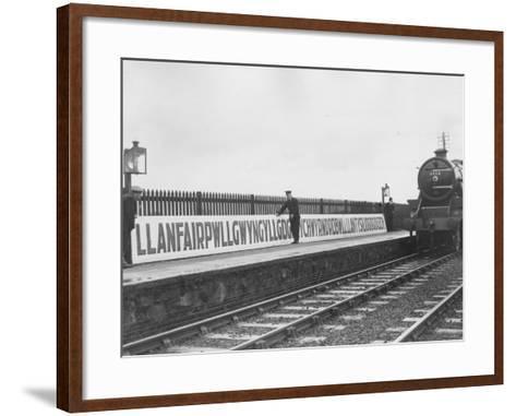 Welsh Station-Fox Photos-Framed Art Print