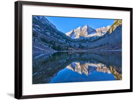 Maroon Bells Mountain and Maroon Lake, Colorado-Alan Copson-Framed Art Print