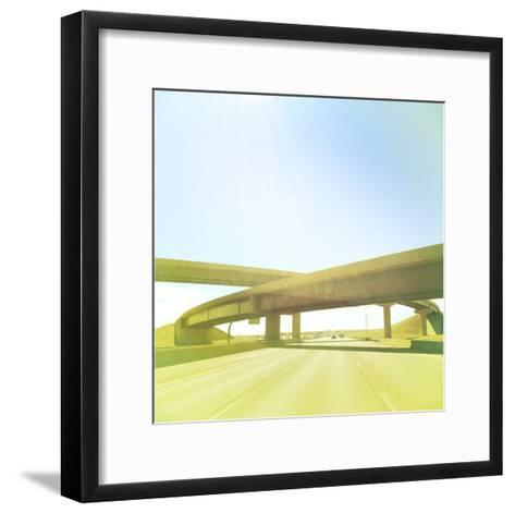 Cross Bridge over Road-A L Christensen-Framed Art Print