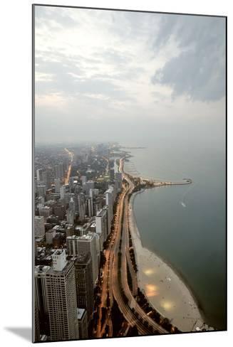 Lake Michigan and Chicago Skyline.-Ixefra-Mounted Photographic Print