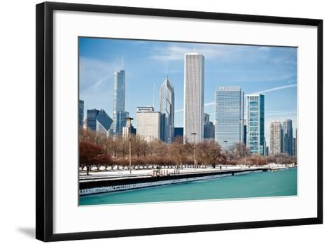 Chicago Skyline-George Imrie Photography-Framed Art Print