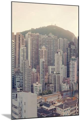 Buildings on Mountain--Mounted Photographic Print
